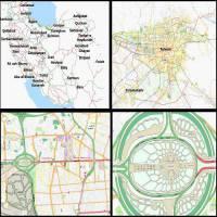 نقشه آفلاین کم حجم OSM ایران بزرگنمایی 22x